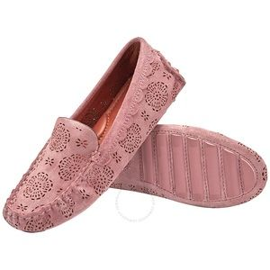 🌸Coach Pink Suede Floral Loafers 🌸